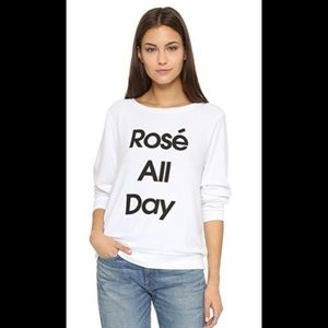 Wildfox Rose All Day Sweatshirt